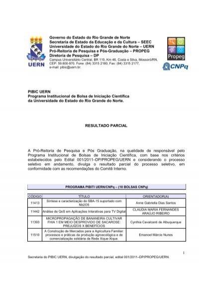 1 Governo Do Estado Do Rio Grande De Norte Secretaria De