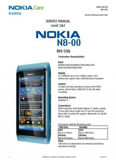 nokia 101 100 rm 769 rh 130 rh 131 service manual level 1 2 rh yumpu com