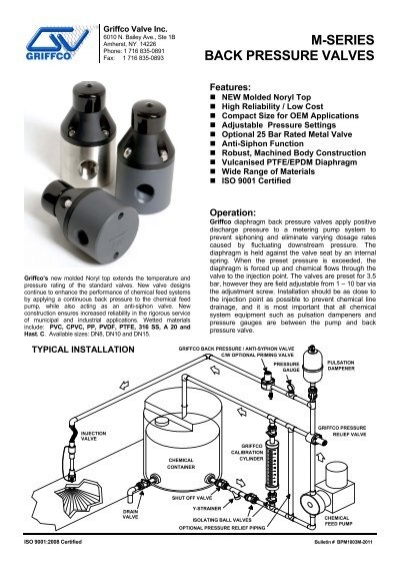 M series back pressure valves griffco valve inc ccuart Image collections