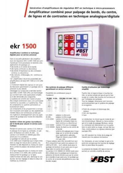 BST EKR 1500 MANUAL PDF