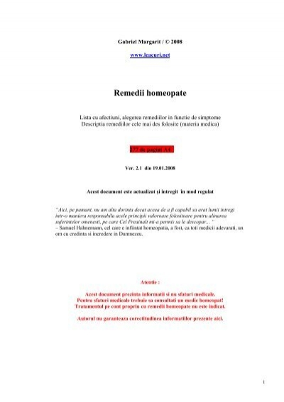 homeopatia în vene varicoase ale unui mic pelvis)