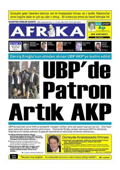26 Subat 2013 P65 Afrika Gazetesi