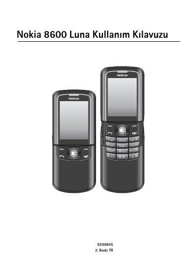Pdf Nokia 8600 Luna Kullanim Kilavuzu