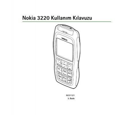 Pdf Nokia 3220 Kullanim Kilavuzu