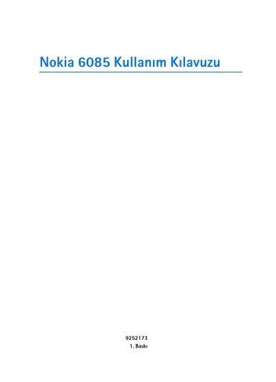 Pdf Nokia 6085 Kullanim Kilavuzu