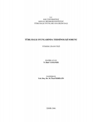 Turk Halk Oyunlarinda Terminoloji Sorunu Turuz Info