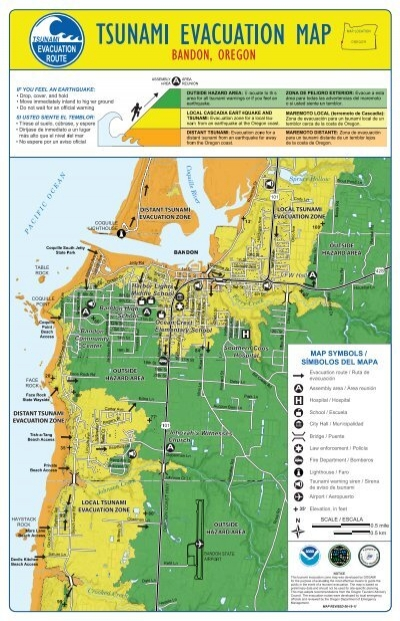 Roofing Salem Oregon Bandon, Oregon, Tsunami Evacuation Map/Brochure