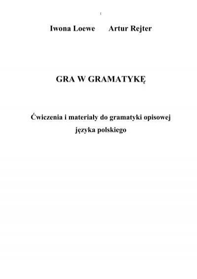 Gra W Gramatykę