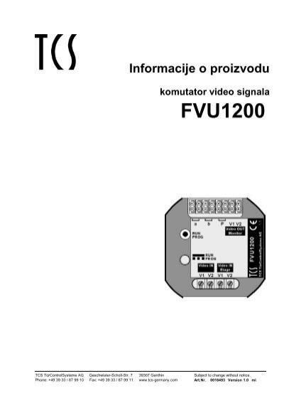 fvu1200 uputstvozakoriscenje tcs