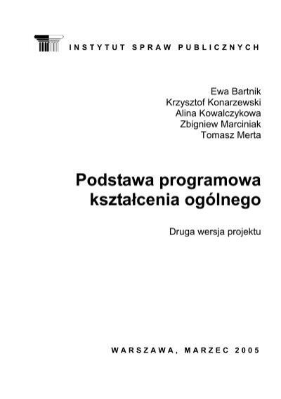 Projekt Nowej Podstawy Programowej Ksztaåcenia Ogã³lnego