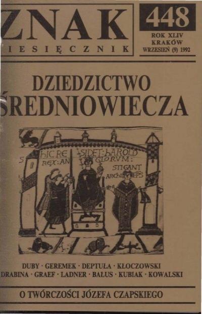 Nr 448 Wrzesieå 1992 Znak