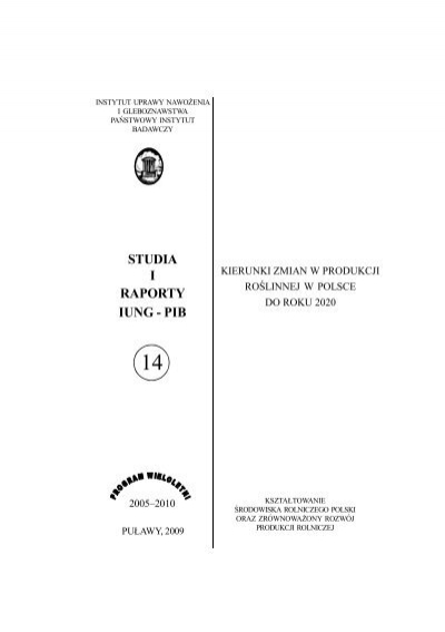 Peåny Tekst92 Mb Instytut Uprawy Nawoå¼enia I
