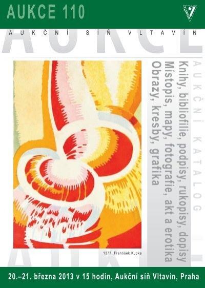 Aukce 110 Auka Na Saaˆ Vltavan