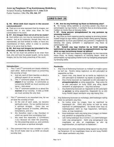 Ang Ikalawang Kautusan Ang Tamang Pagsamba Philippines