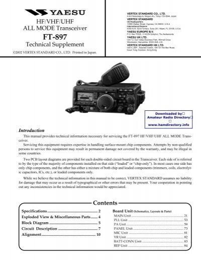 yaesu ft 897 service manual ok5aw rh yumpu com Yaesu FT- 847 Shack Yaesu FT 897 Problems