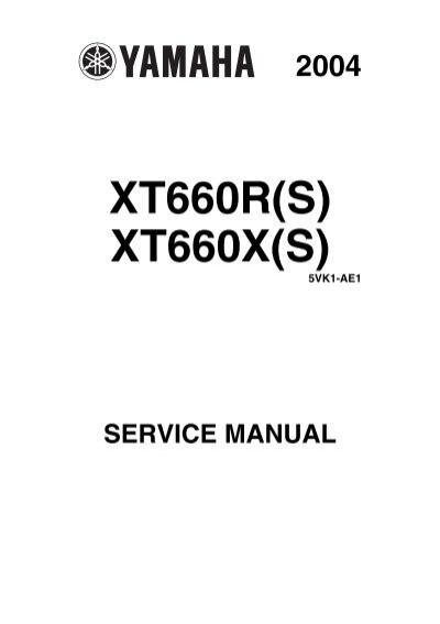 yamaha xt660 service manual