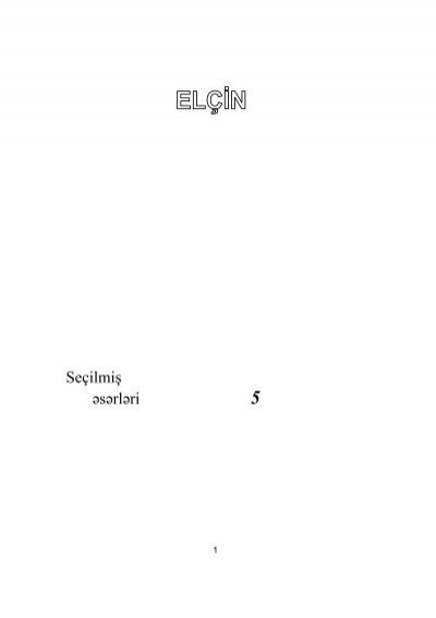 Sea Ilmiaÿ E Se Rle Ri 5 Aze Rbaycan Milli Kitabxanasa