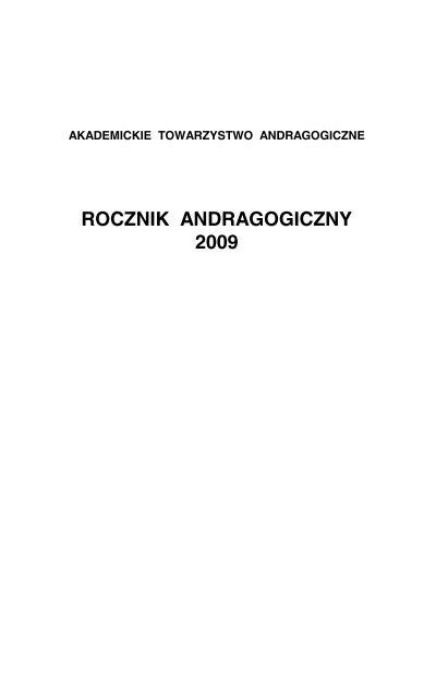 Rocznik Andragogiczny 2009 Akademickie Towarzystwo