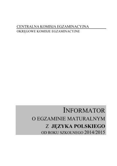 Jäzyk Polski Centralna Komisja Egzaminacyjna