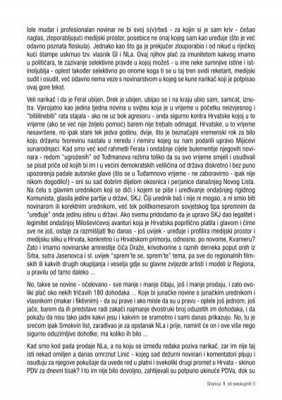 List novine price smokvin Kital, dinamo,