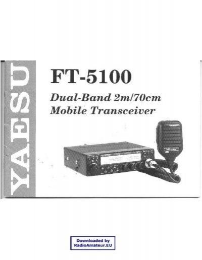 yaesu ft 5100 user manual n7tgb rh yumpu com