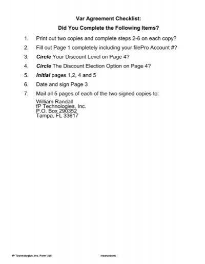 Var agreement checklist platinumwayz