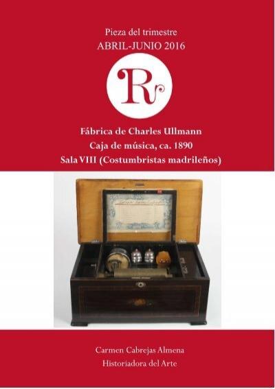 Protocol Caja de Musica con manivela melodia ala Madrid