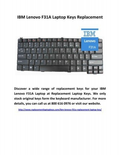 IBM Lenovo F31A Laptop Keys Replacement