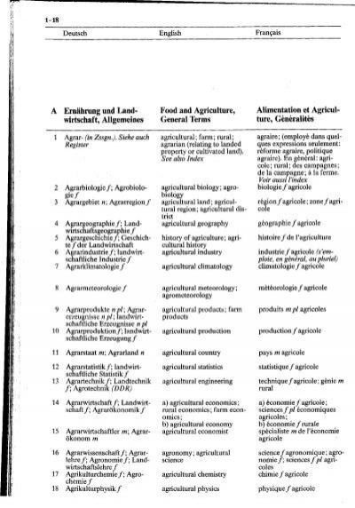 Terren Landwirtschaft | Haensch Und Haberkamp De Anta N 1987 Wa Rterbuch Der