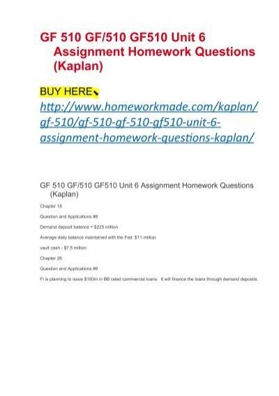 Kaplan homework
