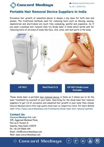 Concord Medisys Portable Hair Removal Device Suppliers In India