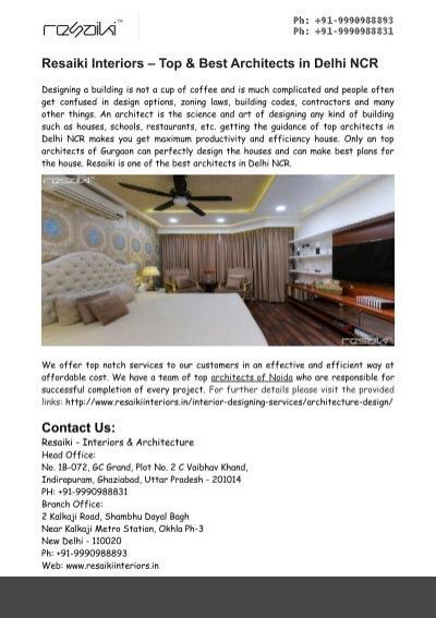 resaiki interiors top best architects in delhi ncr