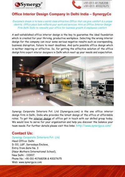 office interior design company in delhi india synergyce
