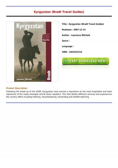 Kyrgyzstan (Bradt Travel Guide) free download