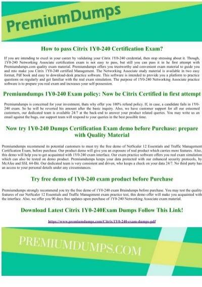 CITRIX 1Y0-340 Exam Dump Test Practice Q/&A PDF Test Simulator