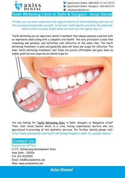 Laser Teeth Whitening In India Teeth Whitening Clinic In Gurgaon