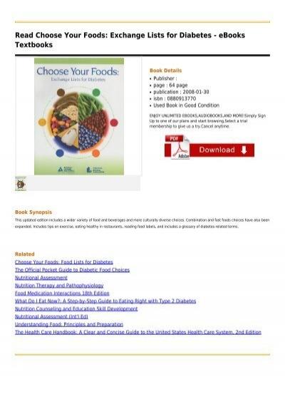 Choose-Your-Foods-Exchange-Lists