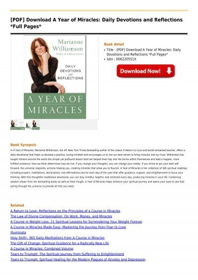 a year of miracles marianne williamson free pdf download