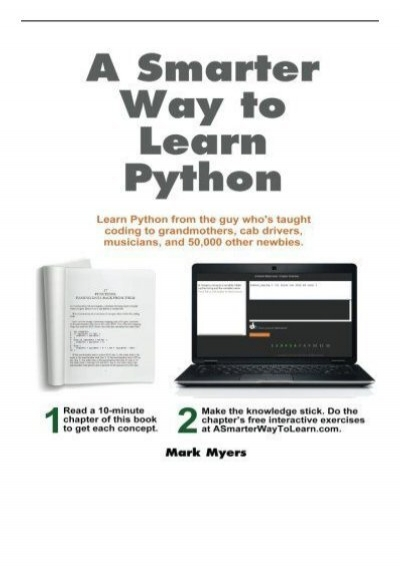 a smarter way to learn python pdf free download