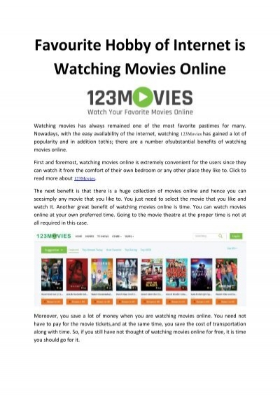 Favourite Hobby Of Internet Is Watching Movies Online