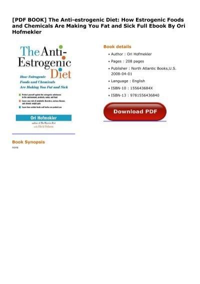 anti estrogenic diet ori hofmekler pdf