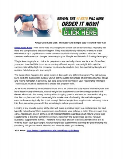 Kings Gold Keto Diet : The Easy And Simple Way To Shed Your Fat!