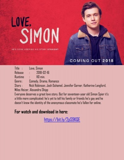 Love Simon Watch Online