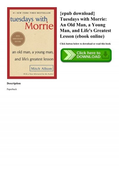 tuesdays with morrie epub free download