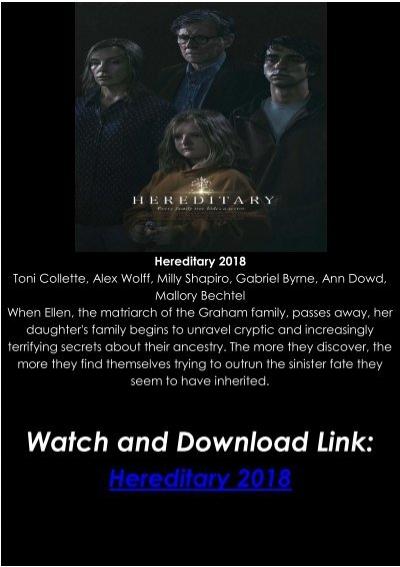 Hereditary Stream English