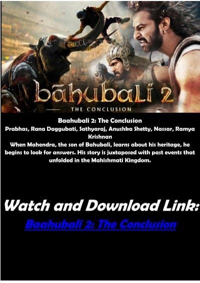 Bahubali 2 The Conclusion| Prabhas New Hindi Action Movie 2020 ...