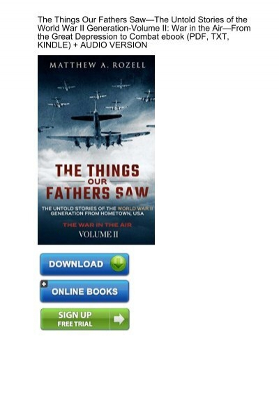 CALM) Download Things Fathers Untold Stories Generation