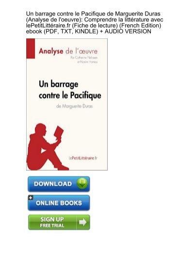 Clear Download Barrage Pacifique Marguerite Analyse Loeuvre Ebook Ebook Pdf