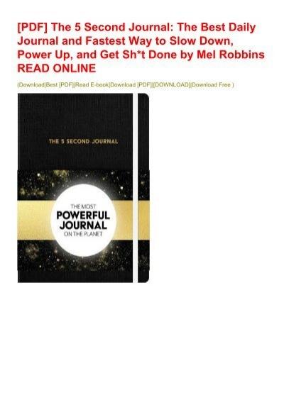 5 second journal pdf free download