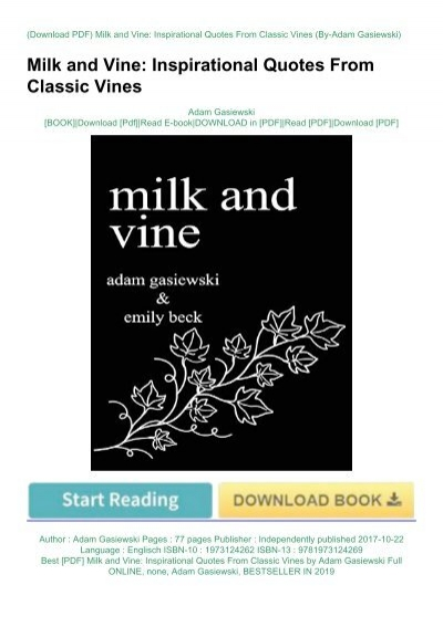 best pdf milk and vine inspirational quotes from classic vines